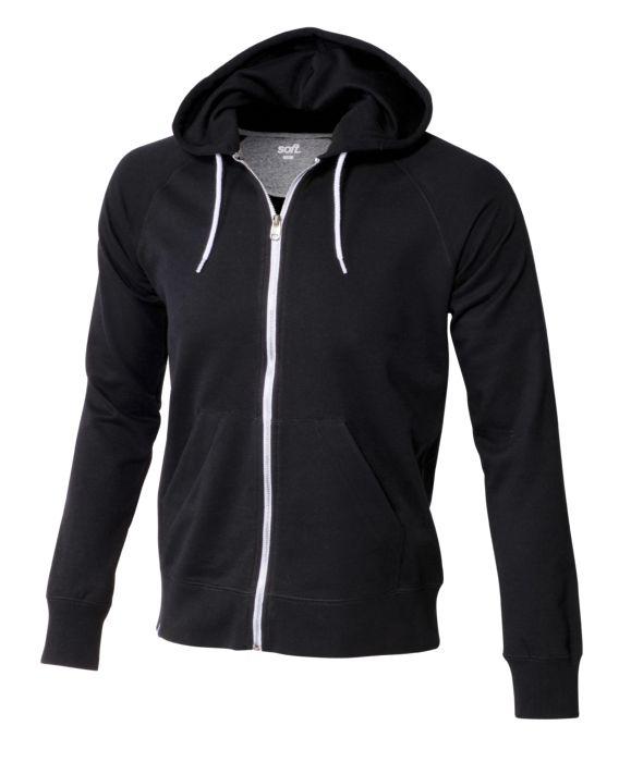Sweat shirt - SOFTWR - Uni zippe - Noir Homme M