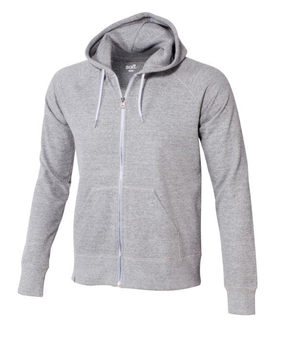 Sweat shirt - SOFTWR - Uni zippe - Gris chine Homme S
