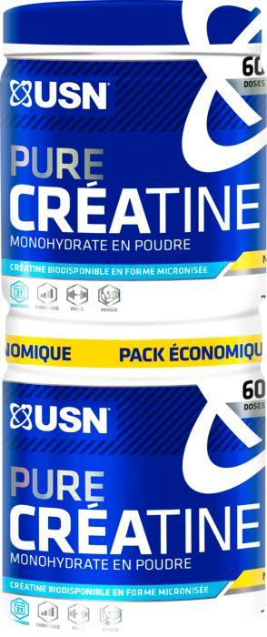 PACK CREATINE MONOHYDRATE - USN NUTRITION - PRISE DE MASSE