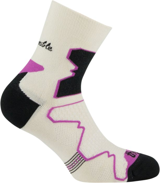 Image of Chaussettes - THYO - Double trek mid l beige-violet - Indetermine Femme 35/36