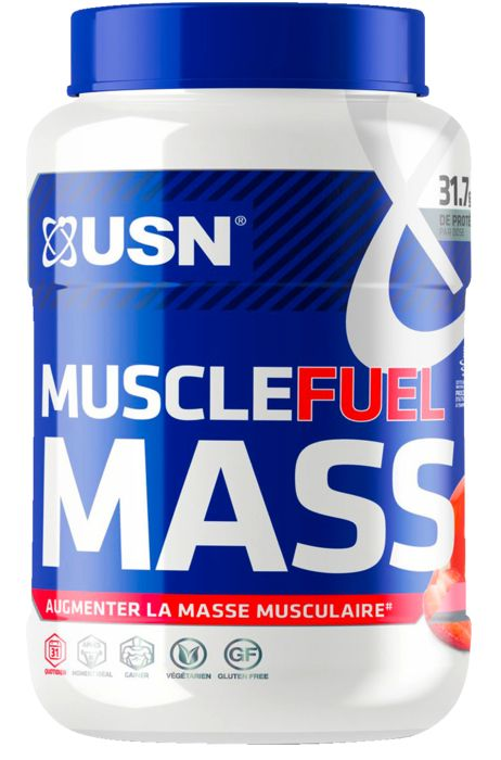 Gainer - USN NUTRITION - Muscle fuel mass straw 750g - Mixte