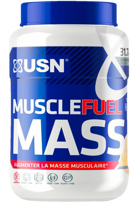 Gainer - USN NUTRITION - Muscle fuel mass vanille 750g