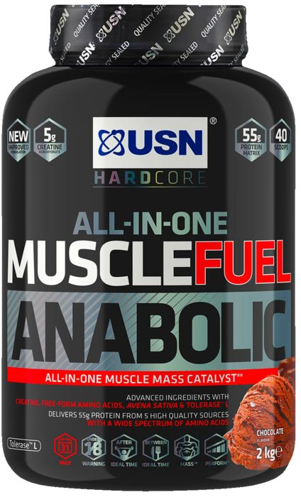 Gainer - USN NUTRITION - Muscle fuel anabolic choc 2kg - Mixte