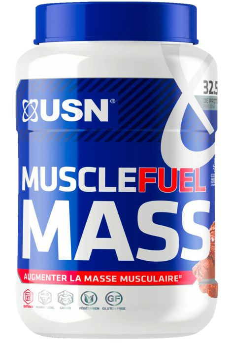 Gainer - USN NUTRITION - Muscle fuel mass chocolat 750g