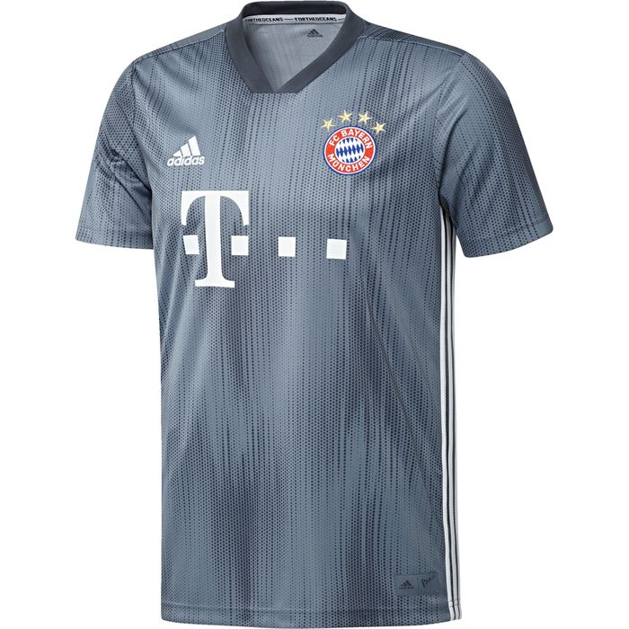 MAILLOT ENTRAINEMENT homme ADIDAS FCB THIRD JSY - GRIS ACIER - homme - ADIDAS - MAILLOT