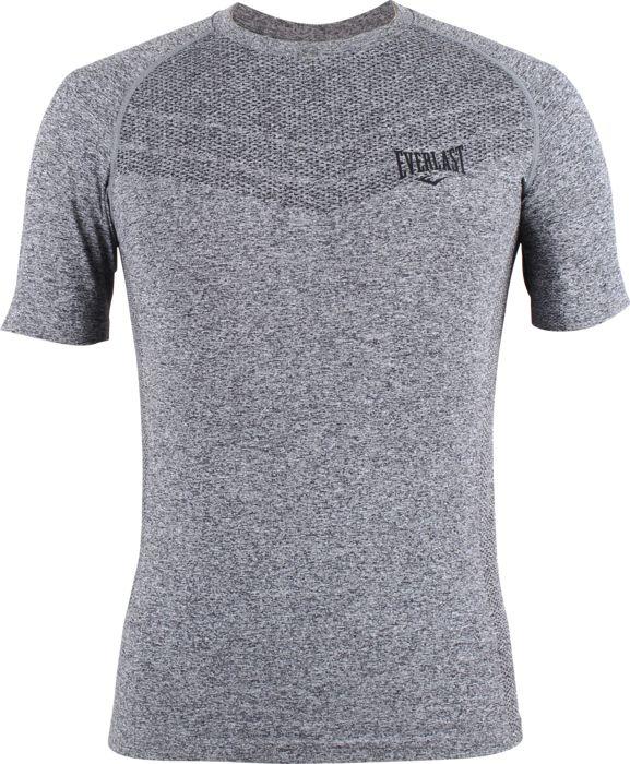Tee Shirt - EVERLAST - Mens Seamless Rashguard Black - Noir Homme L