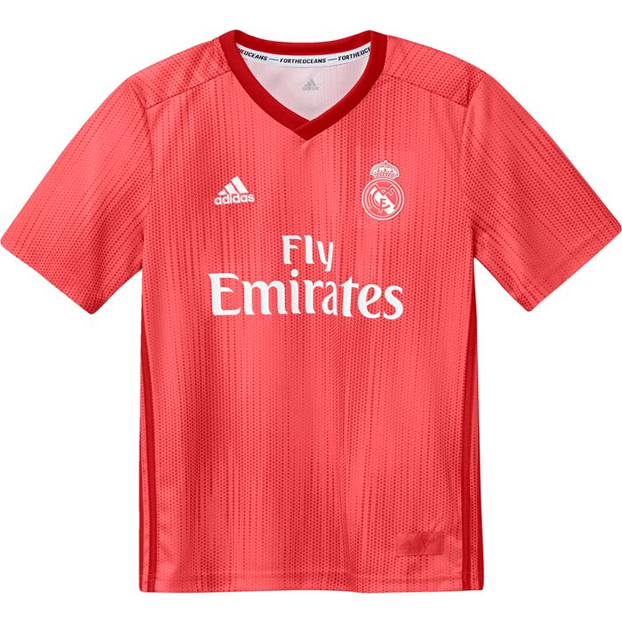 MAILLOT ENTRAINEMENT junior ADIDAS REAL THIRD JSY Y - ROUGE BRIQUE - junior - ADIDAS - MAILLOT