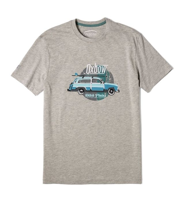 L1TERP - GRIS CHINE - homme - OXBOW - TEE SHIRT