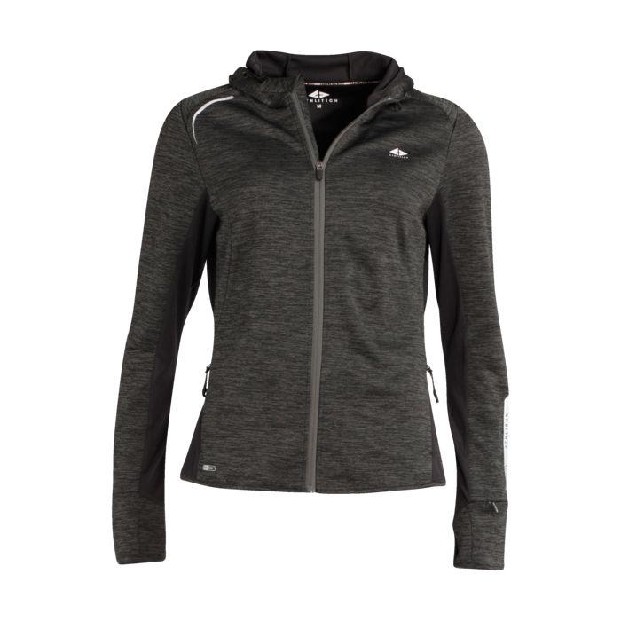 Sweat shirt - ATHLITECH - Glyne 300 sweat zip - Anthraci 0859 Femme S