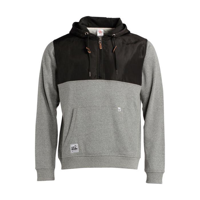 Sweat shirt - UP2GLIDE - Ismael demi-zip hoody - Gris/noir Homme XL