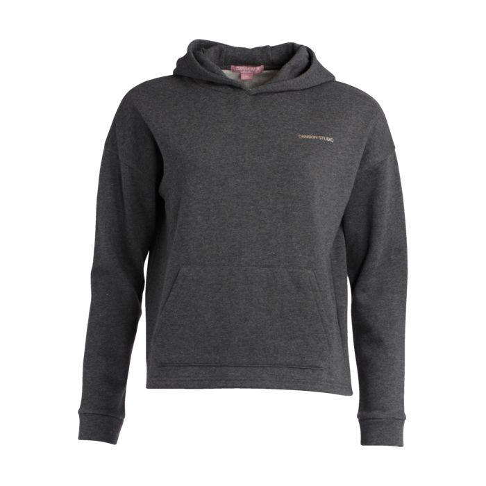 Sweat shirt - DANSKIN - Helena capuche - Gris anthracite Fille 8ANS