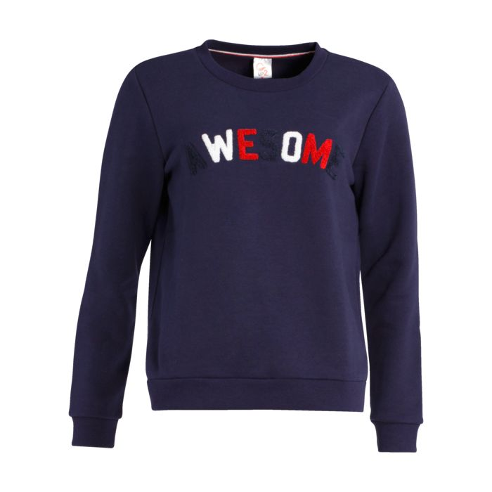 Sweat shirt - UP2GLIDE - Hope col rond - Marine/rouge Femme XS