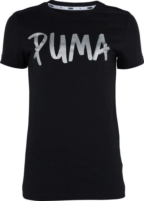 Tee shirt - PUMA - Alpha graphic - Noir Fille 8ANS