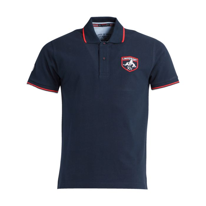 Image of Polo manches courtes - LORDS OF RUGBY - Aston - Bleu marine Homme L