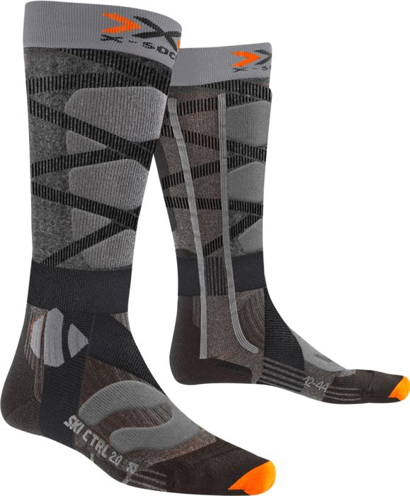 SKI CONTROL 4.0 - GRIS ANTHRACITE - homme - X-SOCKS - CHAUSSETTES