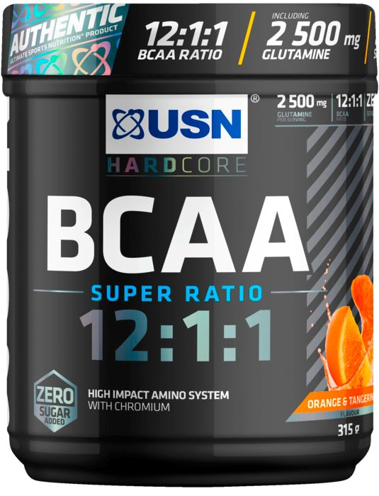 Aliment - USN NUTRITION - Bcaa 12:1:1 orange 315g - Orange Mixte