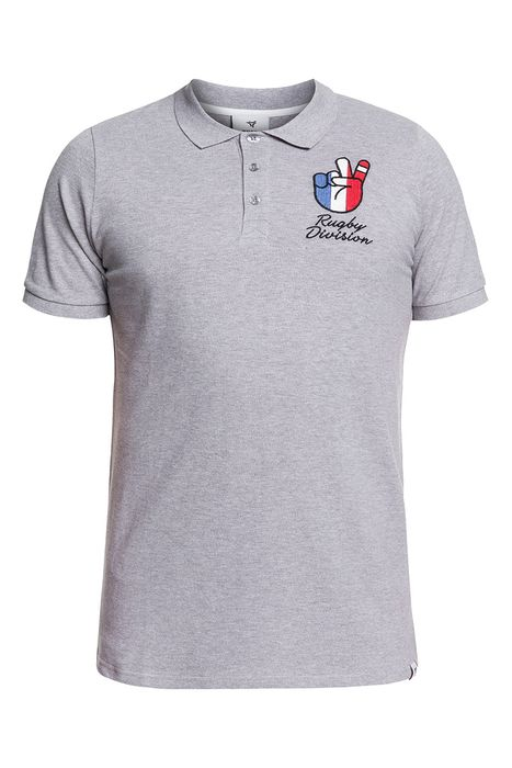 Image of Polo - RUGBY DIVISION - Vive - Gris Adulte XL