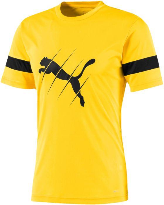 Tee Shirt - PUMA - Ftbplay Logo - Jaune Adulte S