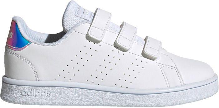 ADIDAS - Baskets - Advantage C - Blanc Enfant 34