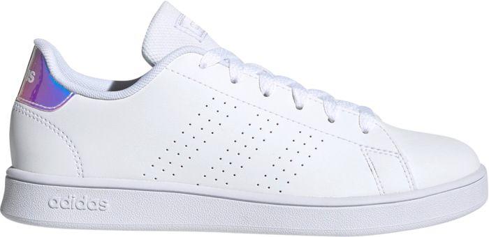 ADIDAS - Baskets - Advantage K - Blanc Enfant 38 2/3