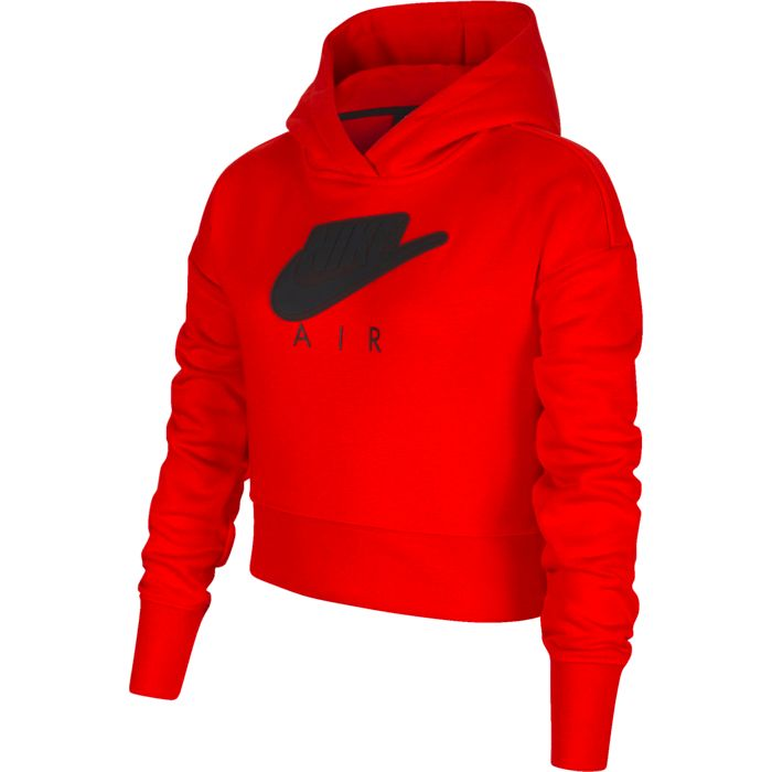Sweat Capuche - NIKE - Nsw Air Ft Crop Hbr - Rouge Fille 14ANS