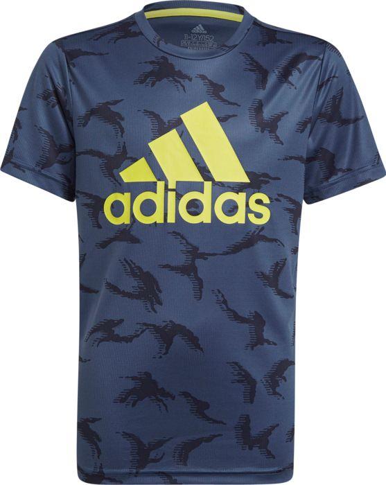 Tee Shirt - ADIDAS - B Camo - Bleu Marine Garçon 12ANS