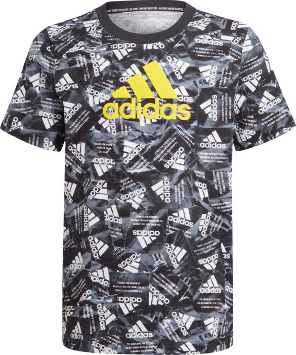 Tee Shirt - ADIDAS - B Bos - Noir Garçon 16 ans