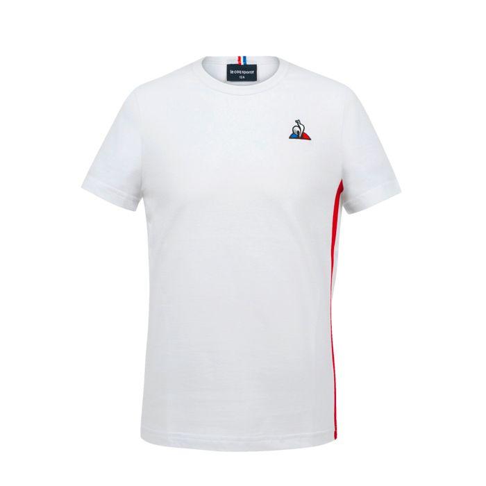 Tee Shirt Mc - LE COQ SPORTIF - Tri Ss N°2 - Blanc Garçon 14ANS