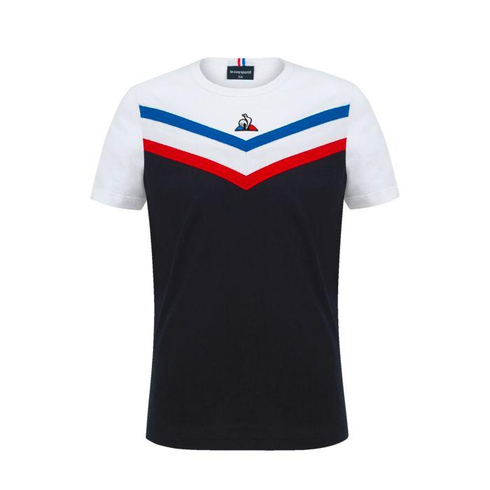 Tee Shirt Mc - LE COQ SPORTIF - Tri Ss N°1 - Bleu Garçon 12ANS