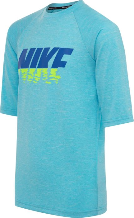 Tee Shirt - NIKE - Logo Ss Lycra - Bleu Mixte 12ANS