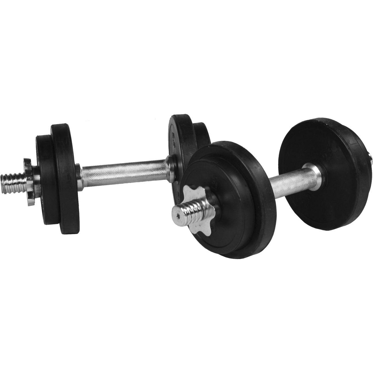 Musculation  GORILLA Gorilla Sports - Set d´haltères courts + disques en caoutchouc de 20 kg