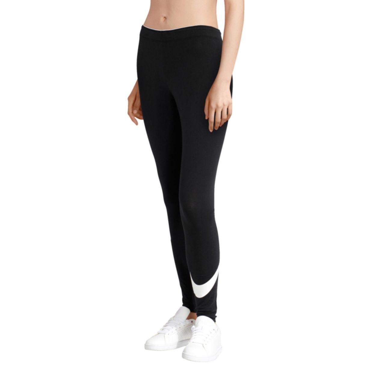 LEGGING Fitness femme NIKE CLUB LEGGING LOGO 2 NOIR