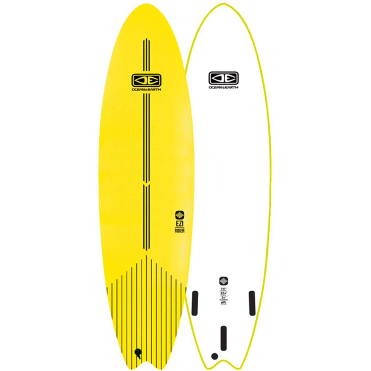 SURF  adulte OCEAN & EARTH 7'0'' XPE FOAM SURF LIME
