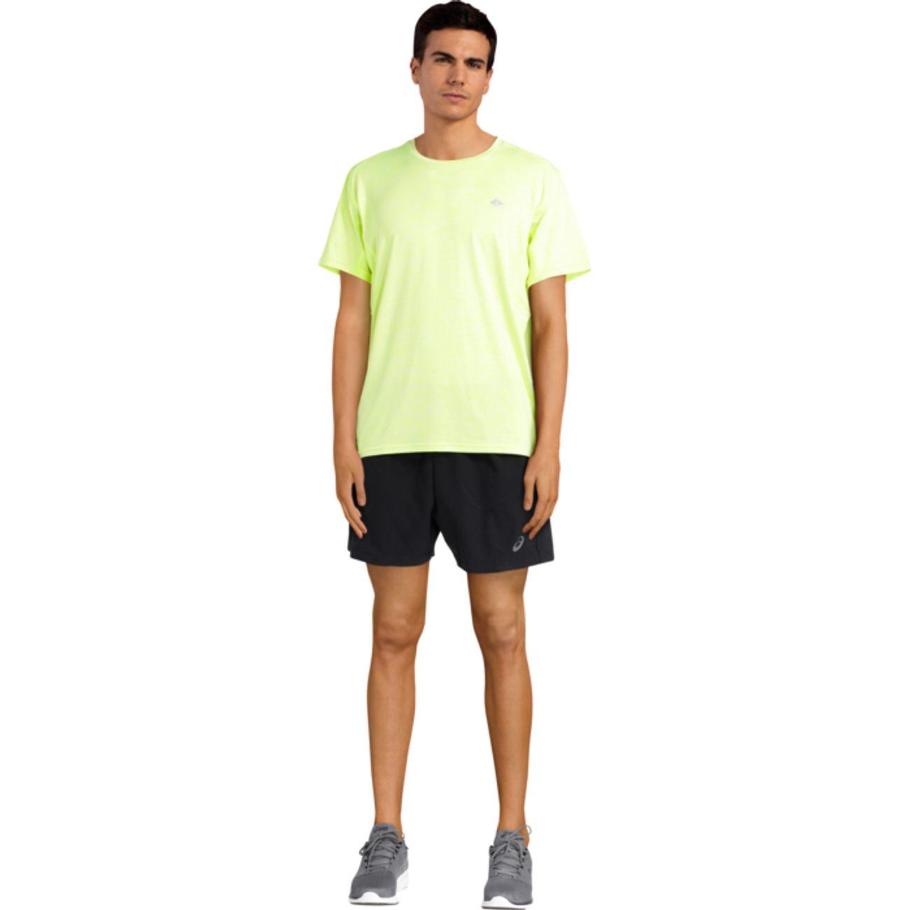SHORT running homme ASICS 5IN M, NOIR