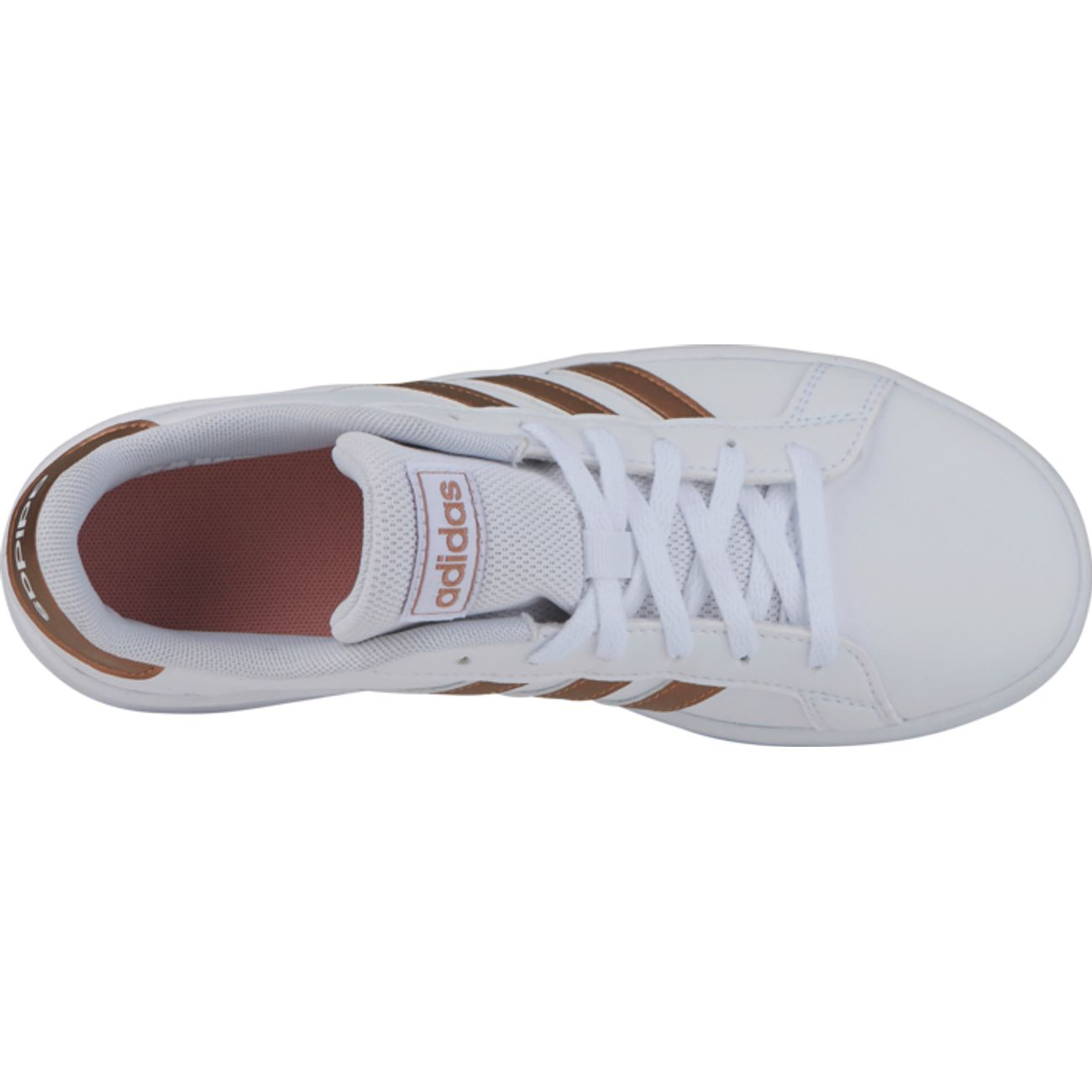 CHAUSSURES BASSES Tennis enfant ADIDAS GRAND COURT K, BLANC/OR