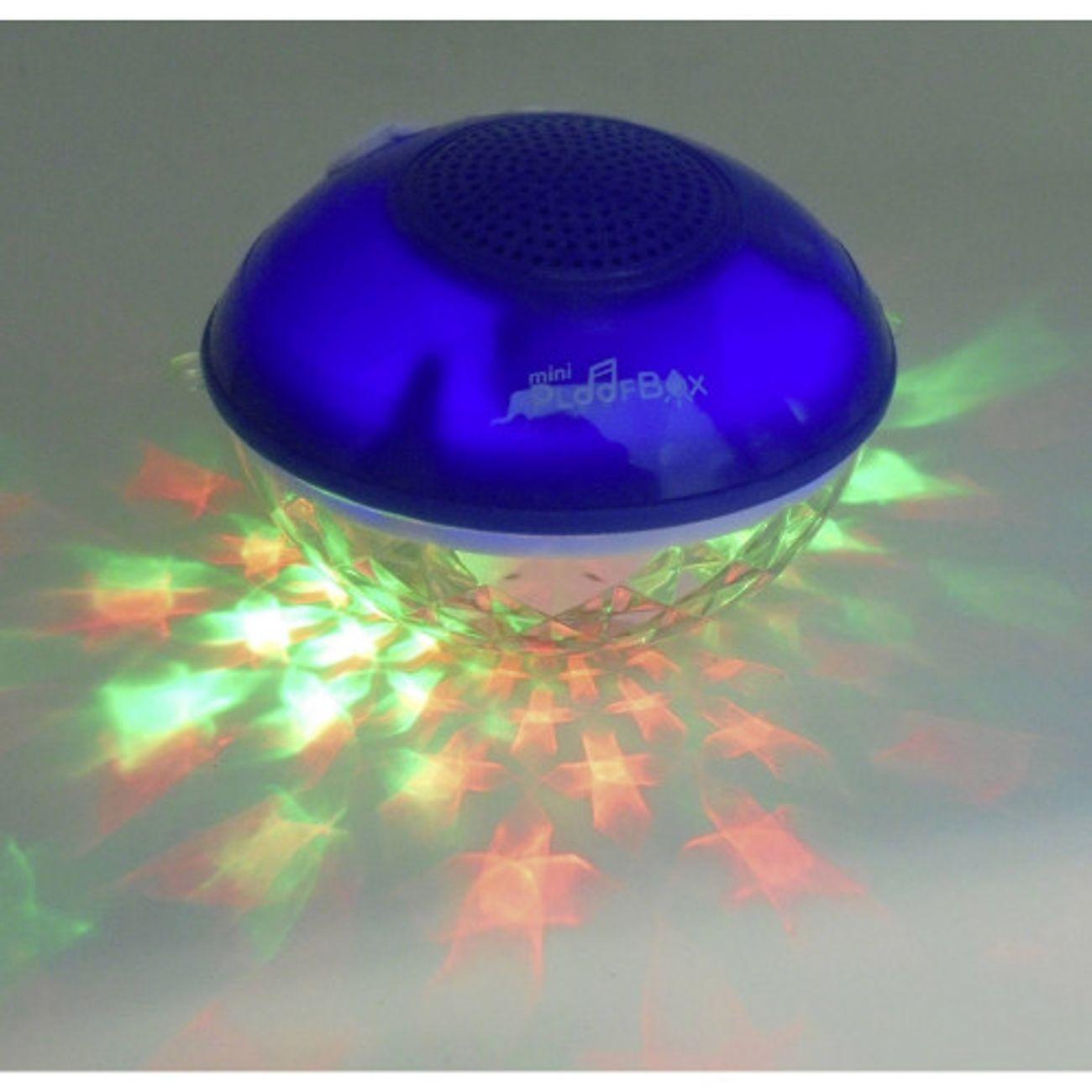 MAGNETICLAND Enceinte lumineuse étanche bleue 5W Mini-PLOOFBOX
