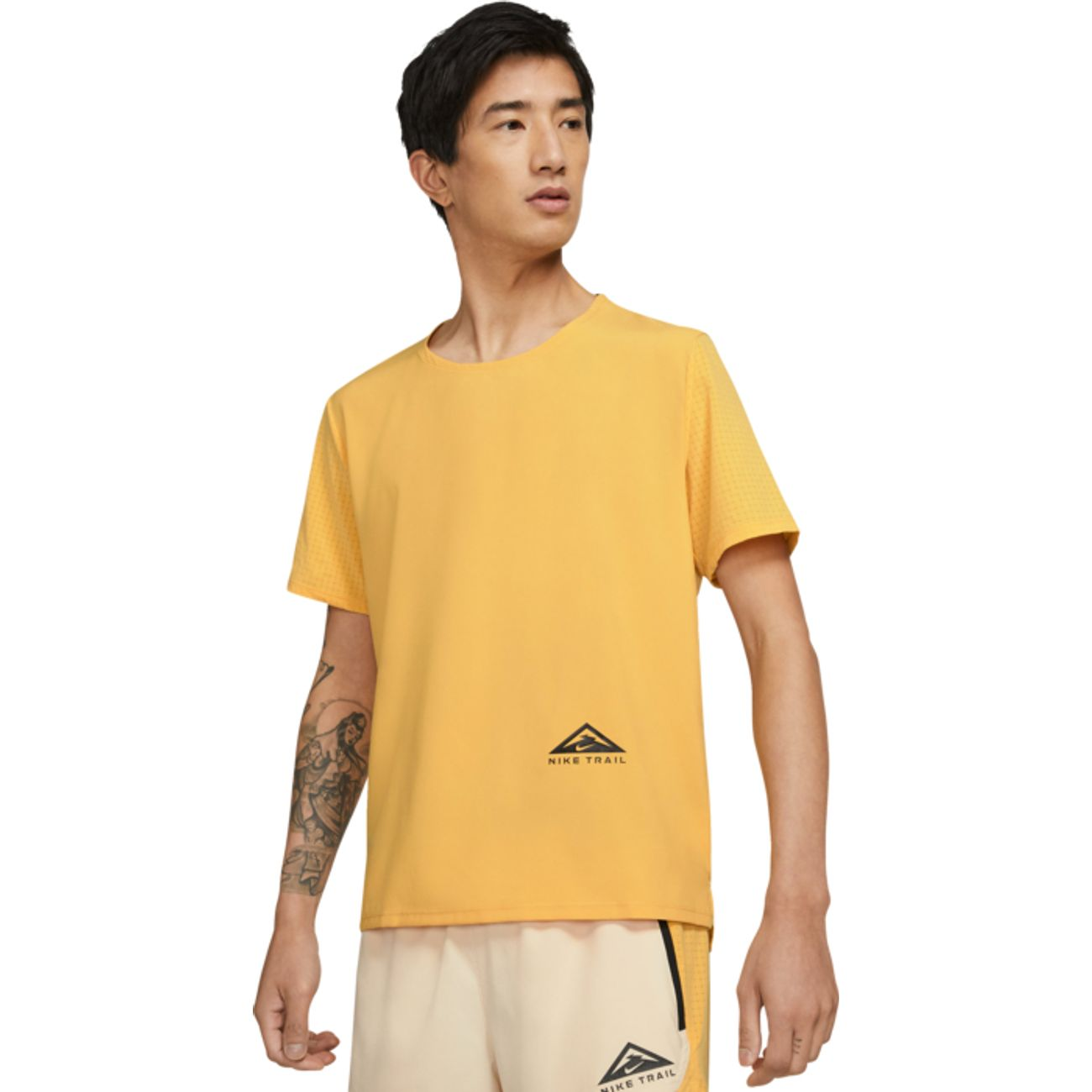 Tee Shirt MC running homme NIKE DF RISE 365 SS TRAIL