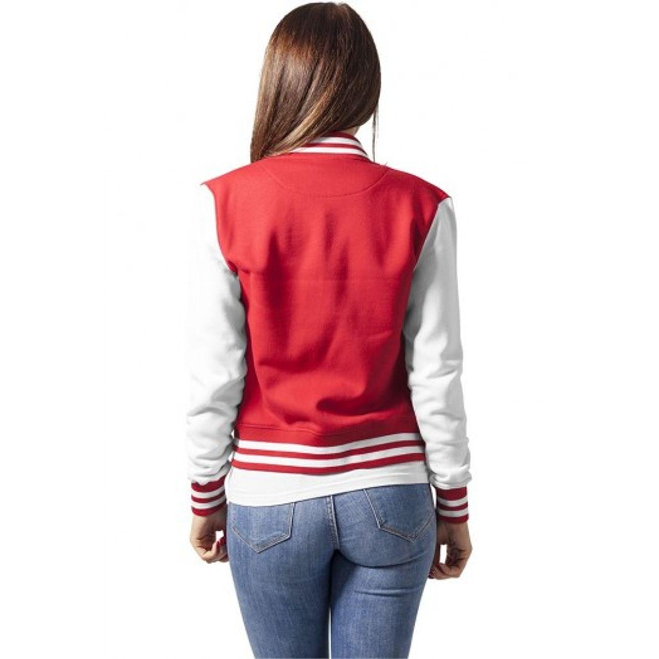 Ladies Classics Veste Blanc College Urban Teddy Rouge tE0q0Sw
