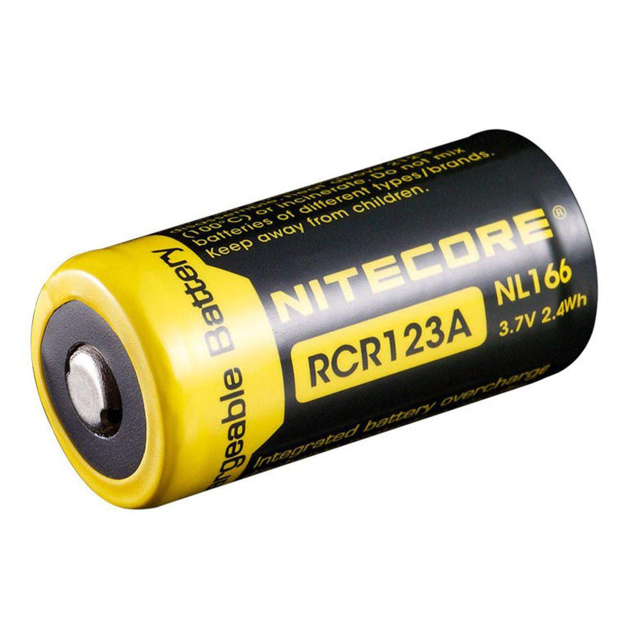 Course à pied  NITECORE Nitecore batterie Li-ion 650 mAh protégé 16.340 IC
