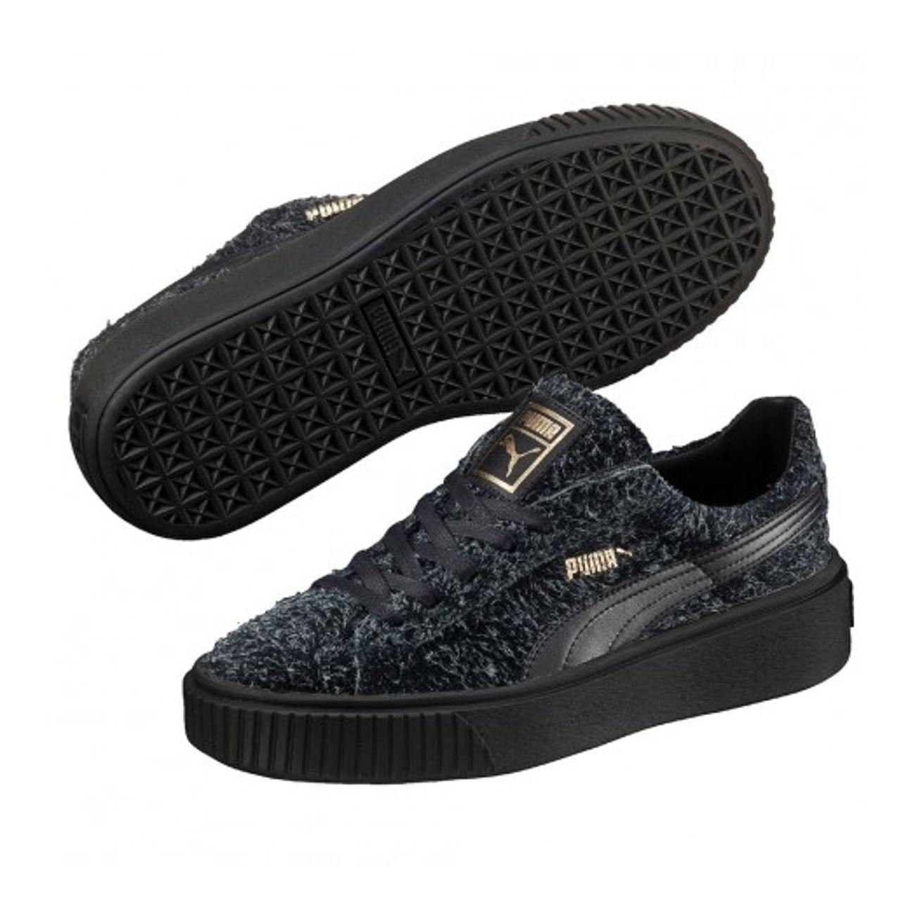 bac516775b39c4 ... Mode- Lifestyle femme PUMA Chaussures Puma Suede Platform Elemental  Noir ...