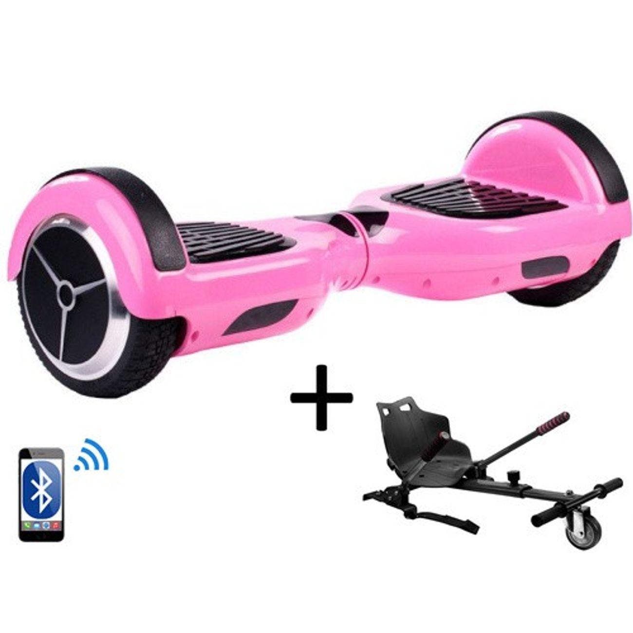 pack hoverboard 6 5 rose hoverkart noir achat et prix pas cher go sport. Black Bedroom Furniture Sets. Home Design Ideas