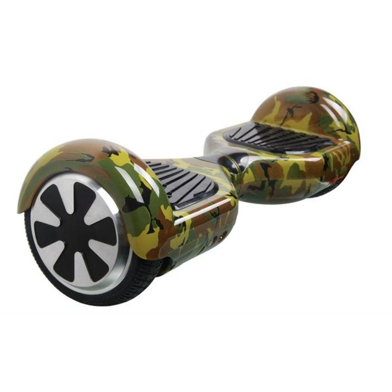 Glisse urbaine  AIR RISE Hoverboard 6,5 Pouces Camouflage Bluetooth+ sac de transport+ télécommande