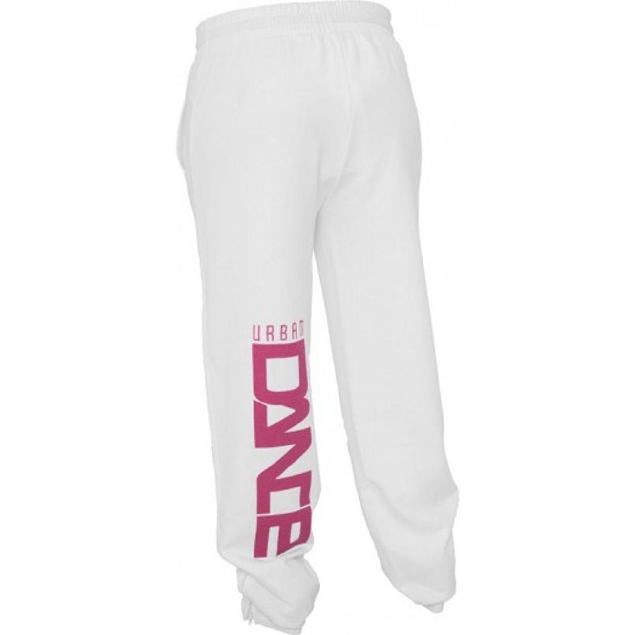 ... Mode- Lifestyle femme URBAN CLASSICS Bas de jogging URBAN DANCE Blanc    Rose Pantalon Danse 196c98b1f15
