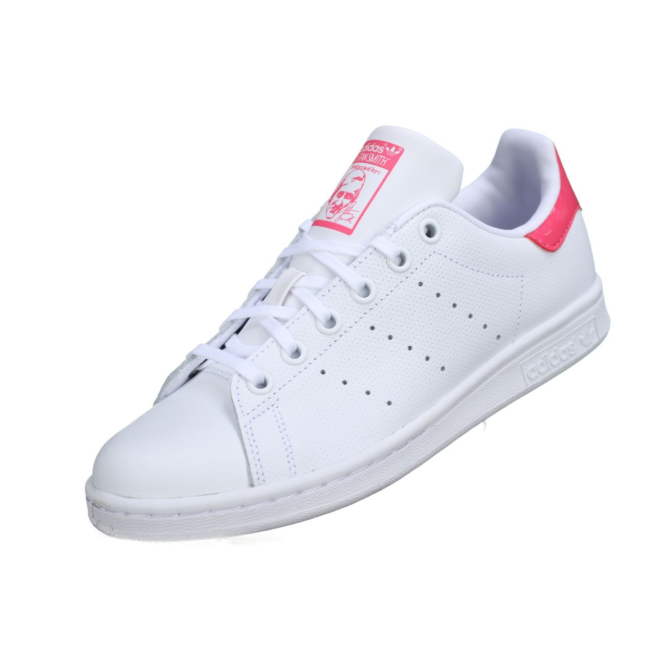 meet 34be7 04b94 Mode- Lifestyle homme ADIDAS Basket Adidas Stan Smith J Db1207 Blanc   Rose  ...