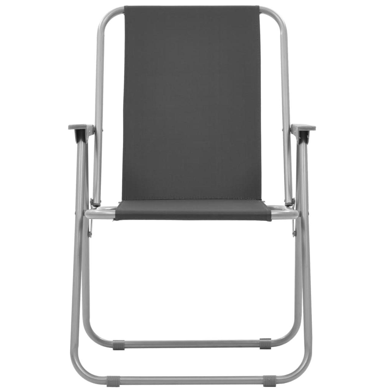 VIDAXL vidaXL Chaise pliante de camping 2 pcs 52 x 59 x 80 cm Gris