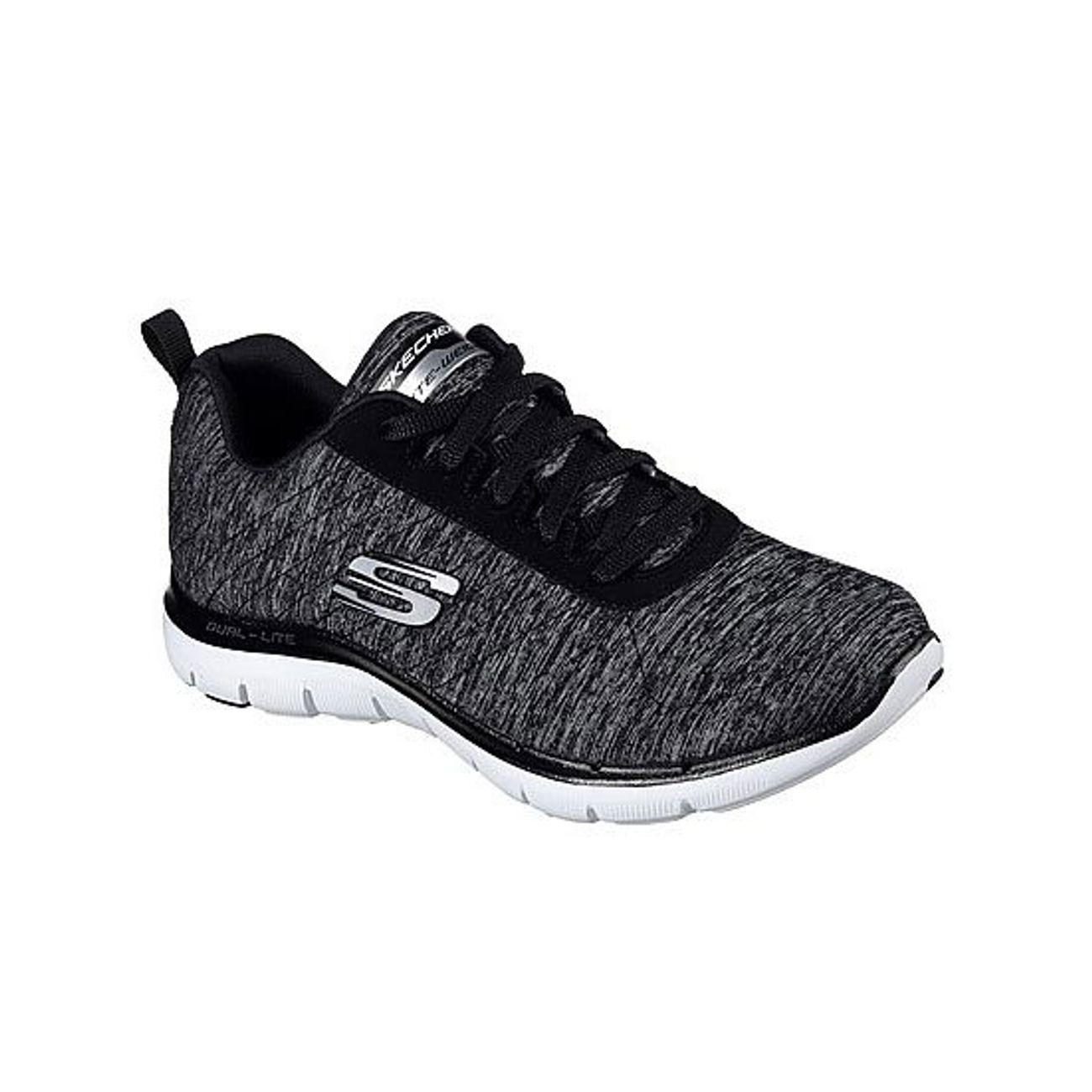 d2ed0955463fce Chaussures Et Flex Skechers Femme Fitness Chiné Gris – Appeal Achat rwpaF4rq