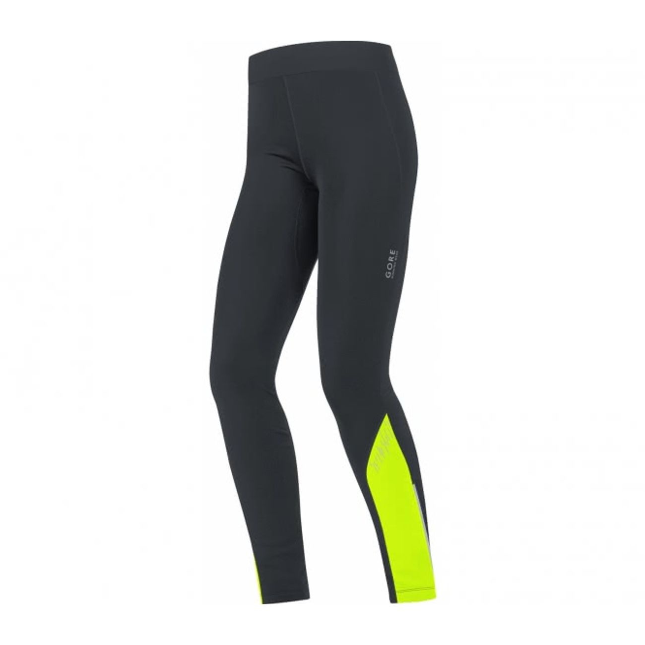 running femme GORE RUNNING WEAR® GORE RUNNING WEAR® - Mythos 2.0 Thermo Femmes exécutant Tight (noir/jaune)