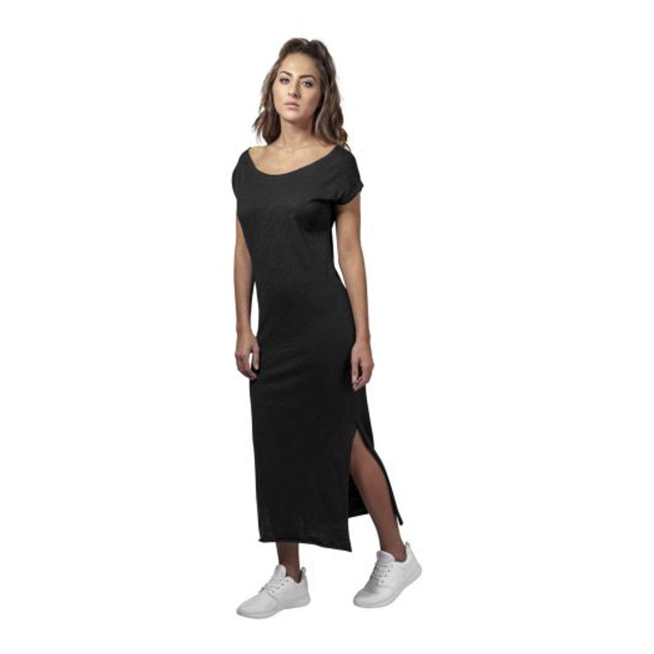 8a23fe71903 Mode- Lifestyle femme URBAN CLASSICS Robe Longue Urban Classics Slub Dress  Noir ...