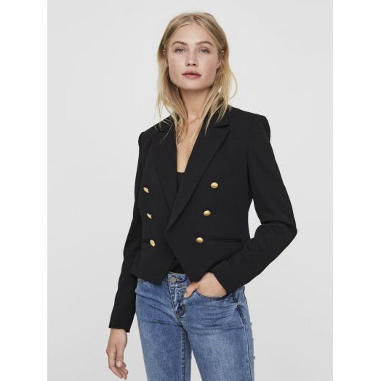 53a5bfc61fee3 Mode- Lifestyle adulte VERO MODA Blazer Femme Vero Moda Selma D2-5 Noir ...