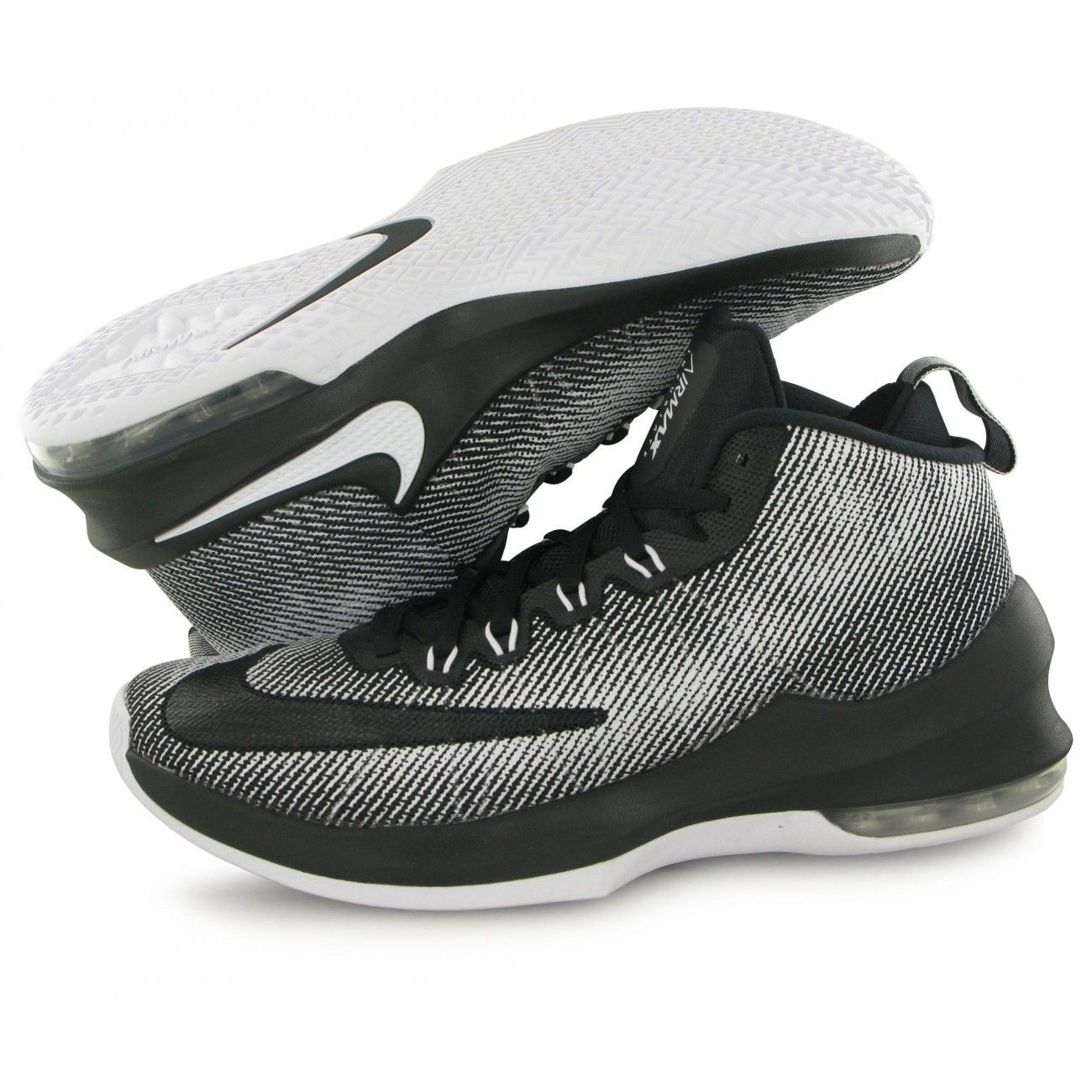 new arrival 14caf 7117c ... Basket ball homme NIKE Nike Air Max Infuriate Mid noir, chaussures de  basketball homme ...
